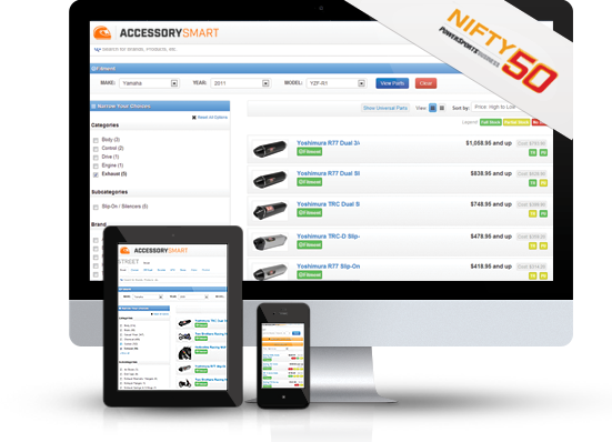 Accessory Smart works across all of your devices (Desktop, tablet, mobile phone).